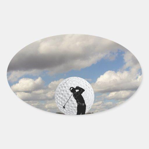 Golf World Oval Sticker