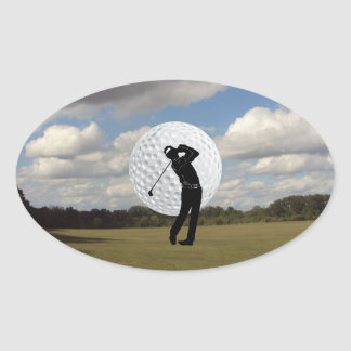 Golf World Oval Sticker