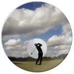 Golf World Porcelain Plates