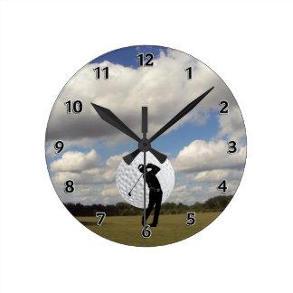 Golf World Round Clock
