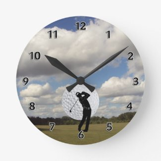 Golf World Wallclock