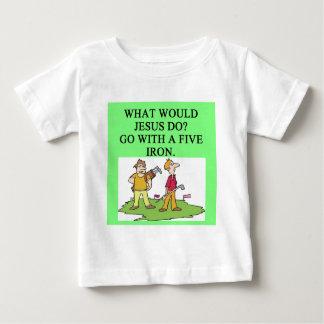 golf y chiste de Jesús T-shirt