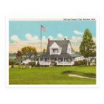 Golf y club de campo de Manistee del vintage Postal