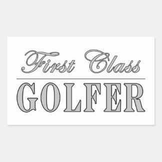 Golf y golfistas: Golfista de primera clase Rectangular Pegatina