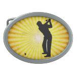 Golf; yellow belt buckles