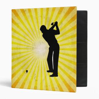 Golf; yellow binder