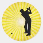 Golf; yellow stickers