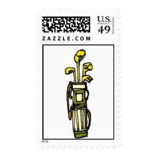 golfbag final postage stamp