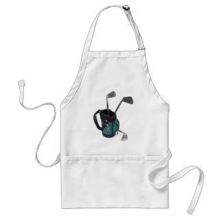 GolfBagClubs083109 Adult Apron
