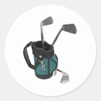 GolfBagClubs083109 Classic Round Sticker