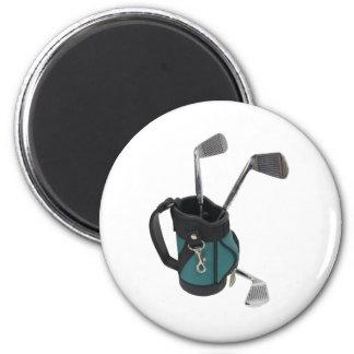 GolfBagClubs083109 Imán Redondo 5 Cm