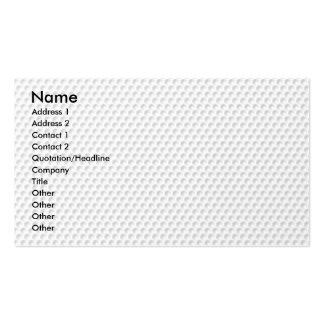 Golfball Double-Sided Standard Business Cards (Pack Of 100)