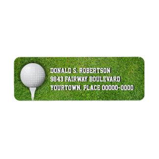 Golfball in the Grass Return Address Label