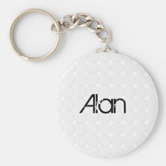 Golfball Basic Round Button Keychain