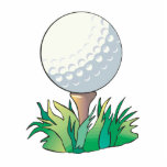 golfball sitting on golf tee cut outs