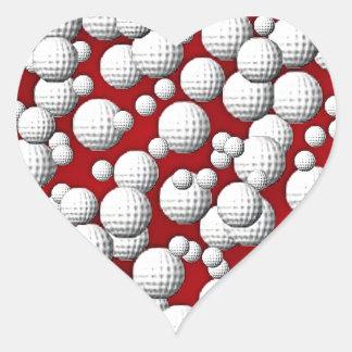 Golfballs everywhere heart sticker