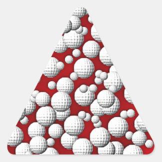 Golfballs everywhere triangle sticker