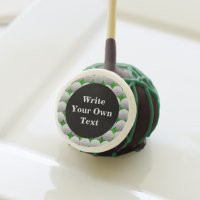 Golfballs - Write Your Own Text Cake Pops
