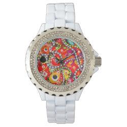 golfcake pink wristwatch