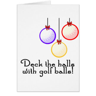 GolfChick Deck the Halls Greeting Cards