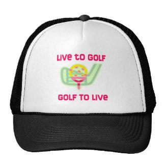 GolfChick Live to Golf Trucker Hats