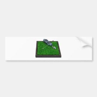 GolfClubBagonGrass100711 Bumper Sticker