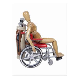 GolfClubsWheelchair Postcard
