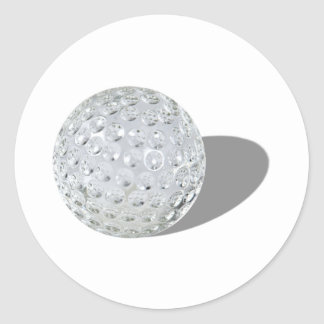 GolfCrystalBall092110 Pegatina Redonda