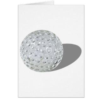 GolfCrystalBall092110 Tarjeta De Felicitación