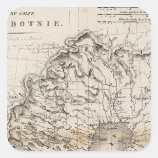 Golfe de Botnie Square Sticker
