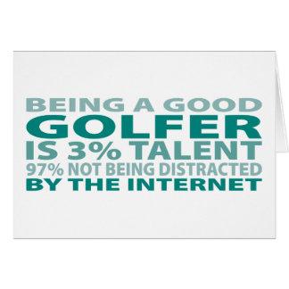 Golfer 3% Talent Card