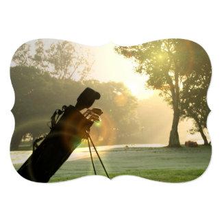Golfer 5x7 Paper Invitation Card