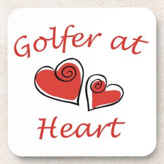 Golfer at Heart Beverage Coaster
