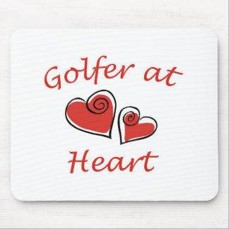 Golfer at Heart Mouse Pad