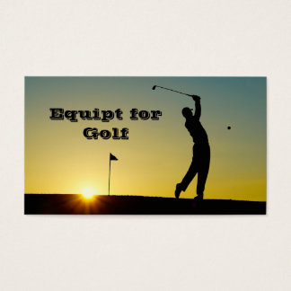 Golfer at Sunset Business Card