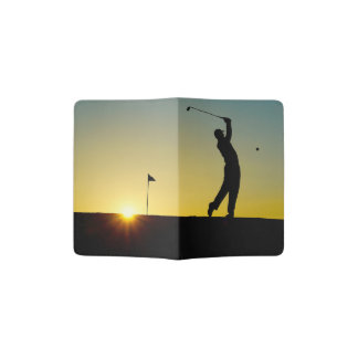 Golfer at Sunset Passport Holder