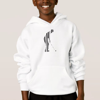 GOLFER BAR CODE Golf Golfing Sports Pattern Design Hoodie