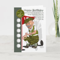 Golfer Birthday Greeting Card With Humor
