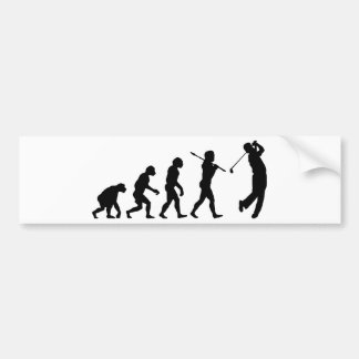 Golfer Bumper Sticker