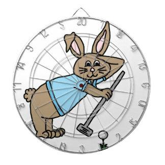 Golfer bunny dart board