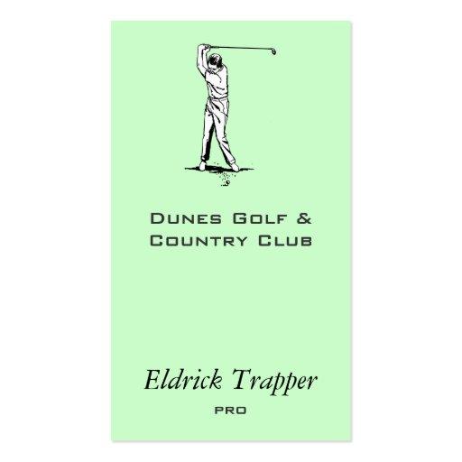 Golfer Business Card Template