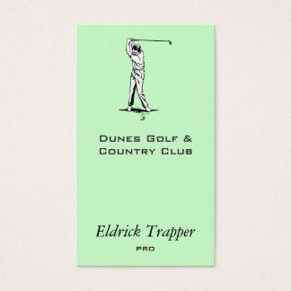 Golfer Business Card