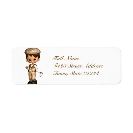 Golfer caricature mailing labels zazzle for Caricature return address labels