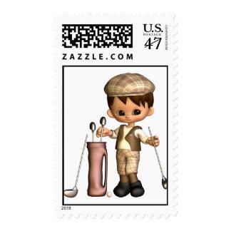 Golfer Cartoon  Postage Stamp