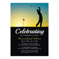Golfer Celebration of Life | In Loving Memory Invitation