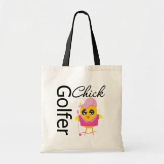 Golfer Chick Tote Bag