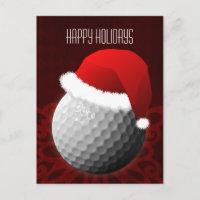 golfer Christmas Cards