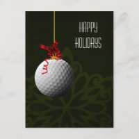 golfer Christmas Cards