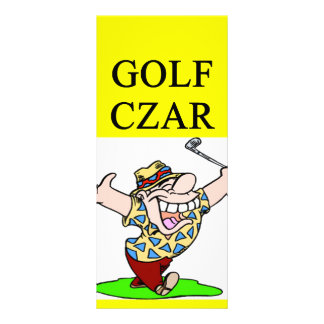 GOLFer czar joke Personalized Rack Card