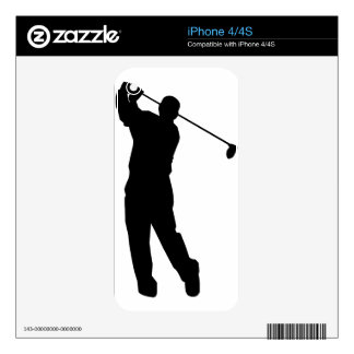 Golfer Decal For The iPhone 4